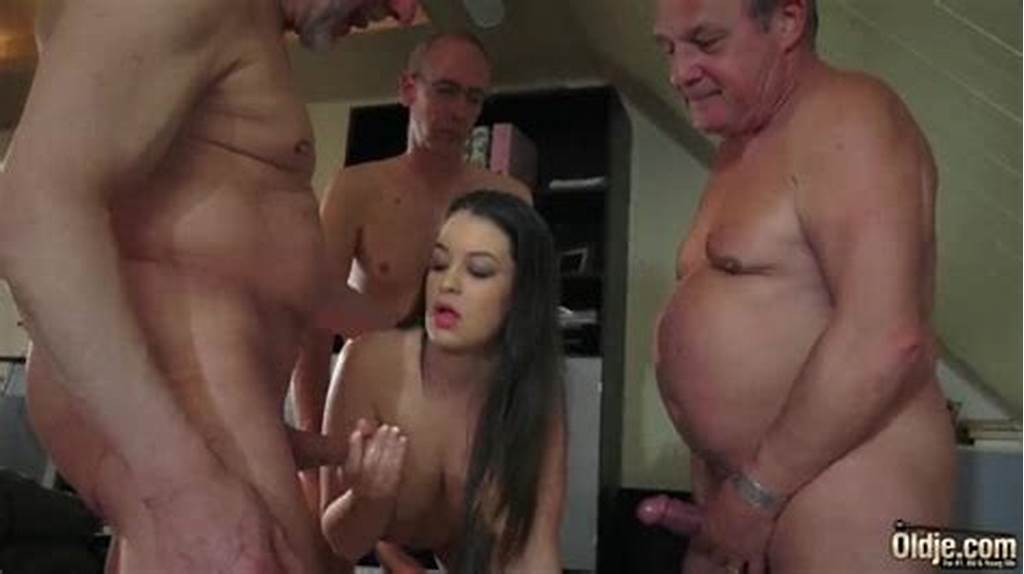 #Old #Young #Babe #Gangbang #With #Grandpas #She #Gets #Double