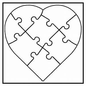 Puzzle Zum Ausdrucken : white line puzzle herz zum selbst bemalen 6 st ck von ~ Lizthompson.info Haus und Dekorationen