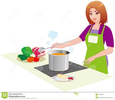 femme a la cuisine le femme dans la cuisine image stock image 17036121