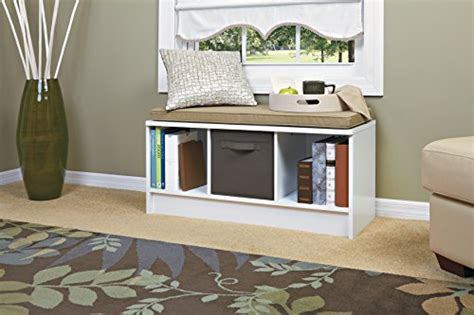 White Entry Way Bench - white seating entryway organize storage benches shoes cube