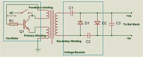 explain  working   circuit   mosquito zapper