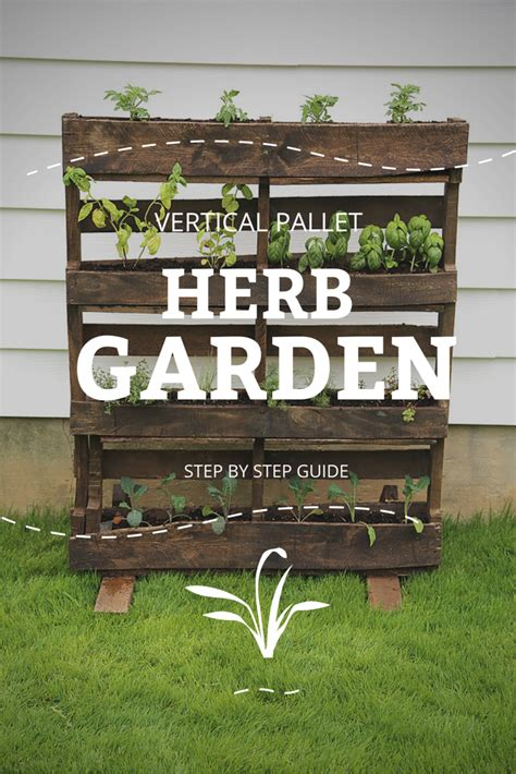 Save Time And Money With A Vertical Pallet Herb Garden