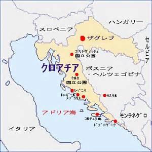 クロアチア:クロアチアの地図>