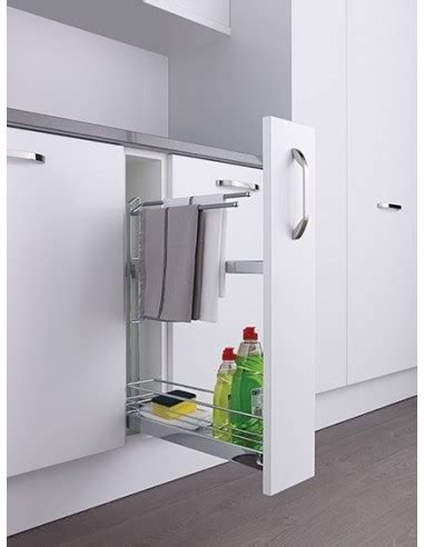 kitchen pull out storage units kessebohmer narrow towel base pull out storage ktrbp150c 8401