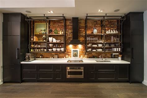 Kitchens With Dark Cabinets by Industrial Cabinet Pulls Kitchen Industrial With Black