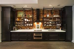 industrial-cabinet-pulls-Kitchen-Industrial-with-black