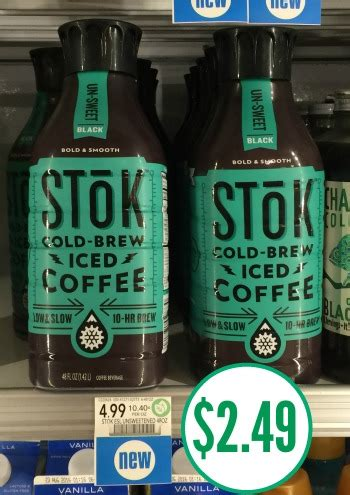 You can get coffee for as low as $2.99 at publix after coupon. Stok Iced Coffee Half Price At Publix - Just $2.49 After Coupons