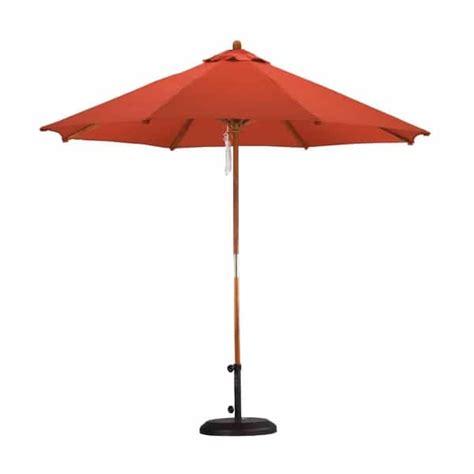 9 wood pulley market umbrella