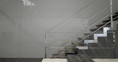 painted architectural glass  ash grey bendheim