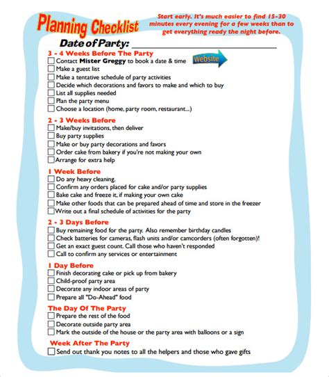 party plan template cycling studio