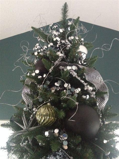 black silver and green christmas tree christmas