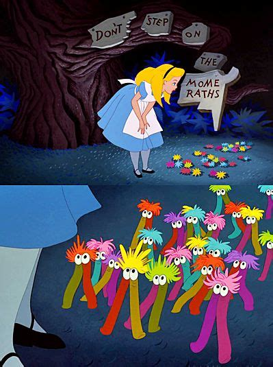 dont step   mome raths alice  wonderland party