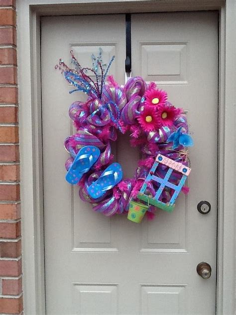 diy flip flop wreath decorating ideas hative
