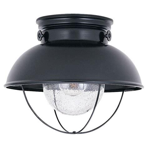 sea gull lighting 8869 12 black sebring 1 light outdoor