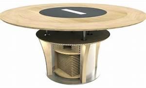 Table Ronde Haute : table ronde design extensible table haute de cuisine sandinave concernant table cuisine ronde ~ Teatrodelosmanantiales.com Idées de Décoration