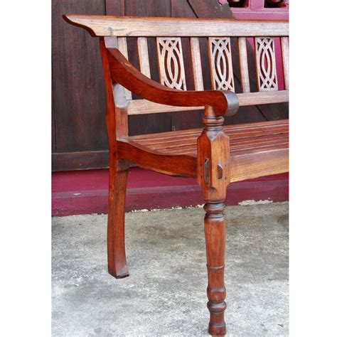 Antique Teak Bench - antique thai teak gingerbread garden bench
