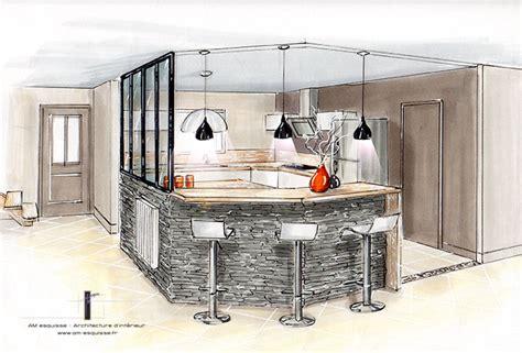 Verriere Interieur Cuisine - réalisations décoration et relooking d 39 une cuisine avec