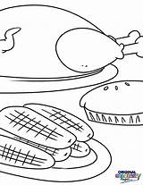Thanksgiving Coloring Dinner Bring Below Through Holiday sketch template