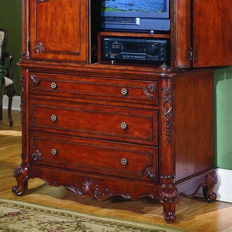 cherry tv armoire trent home madaleine flat panel antique cherry tv armoire