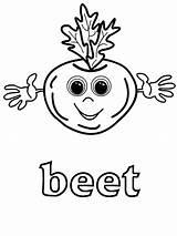 Beet sketch template
