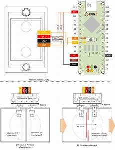 Wiring Sensirion I2c Air Flow Digital Differential Pressure Sensor