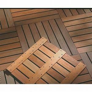 Dalle Bois Terrasse 100x100 : dalle terrasse bois exotique 50 ep 24 mm ~ Melissatoandfro.com Idées de Décoration