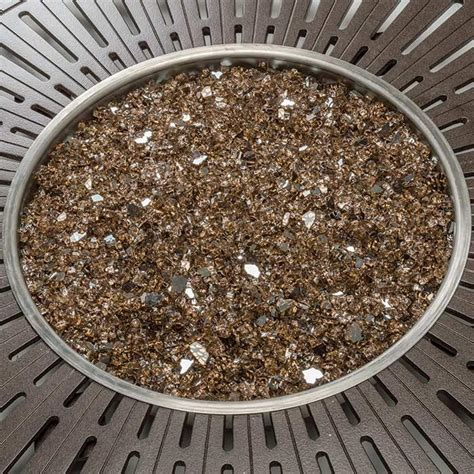 The burner system produces a wide range of heat output peaking at 90,000 btus. Decorative Fire Glass Colors | Tropitone