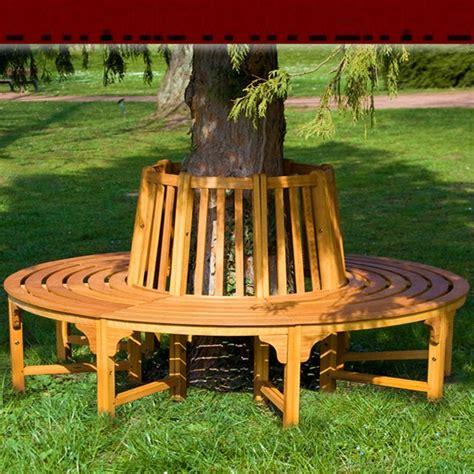 banc de jardin rond circulaire en bois  darbre