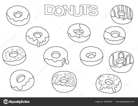 Kleurplaat Emoji Donut by Donut Kleurplaat Coloriage Les Enfants
