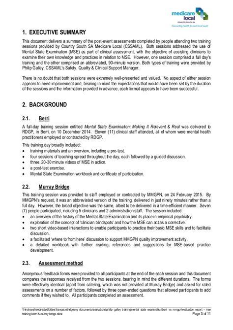 evaluation report mse training berrri murray bridge