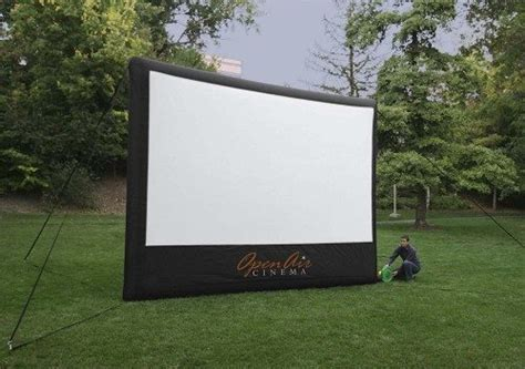 Backyard Theater Screen by Backyard Theater System Landscaping Network