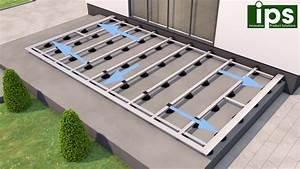 ips aluminium unterkonstruktion fur terrassen platten oder dielen youtube With terrassen unterkonstruktion