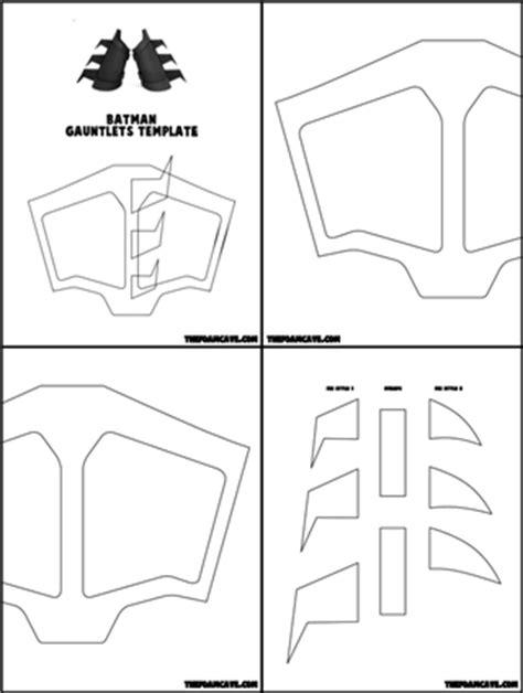 gauntlet template batman gauntlets build tutorial the foam cave