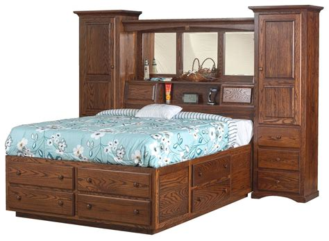 indiana trail wall unit platform bed  dutchcrafters amish