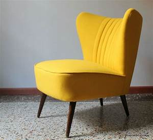 Fauteuil cocktail 5039s jaune home sweet home pinterest for Fauteuil jaune