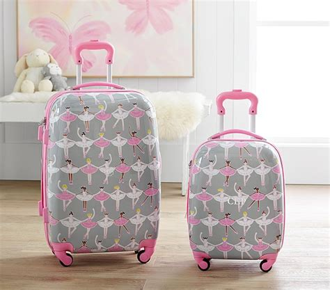 pottery barn suitcase mackenzie glitter ballerina sided luggage pottery