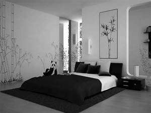 Awesome black and white themed bedroom HD9J21 - TjiHome