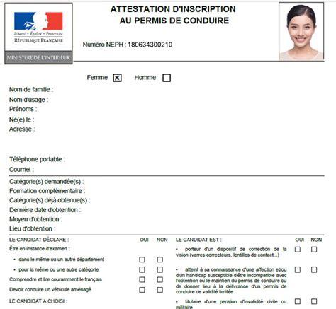 attestation permis de conduire neph comment obtenir mon num 233 ro pour le code ou le permis 2019