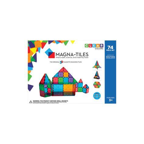valtech magna tiles clear colors 74 piece set 71 99