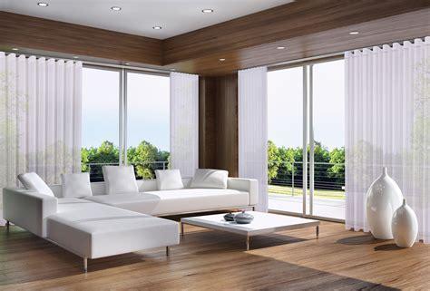 Gardinen Breite Fenster by Gardinen F 252 R Breite Fensterfront Wohn Design