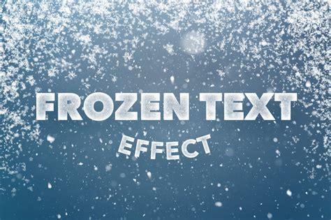 frozen text effect  photoshop layer styles creative