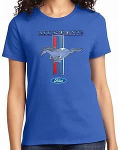 Buy Cool Shirts Ladies Ford Mustang T-shirt Stripe Tee   eBay