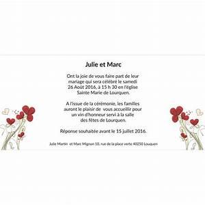 Fleurs Pas Cher Mariage : faire part mariage pas cher petite fleur ~ Nature-et-papiers.com Idées de Décoration