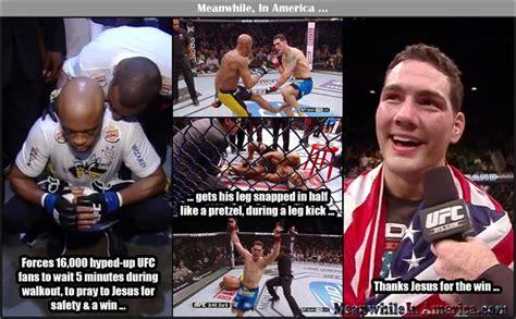 Anderson Silva Meme - broken leg memes