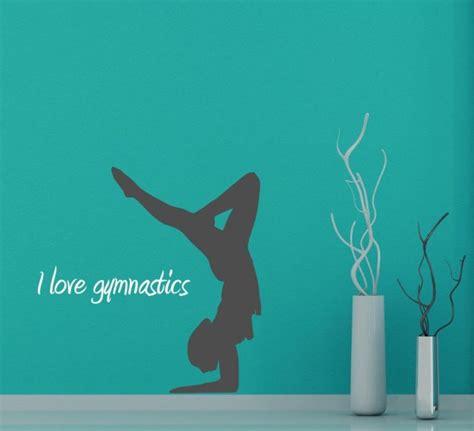 love gymnastics wall sticker version  wall stickers