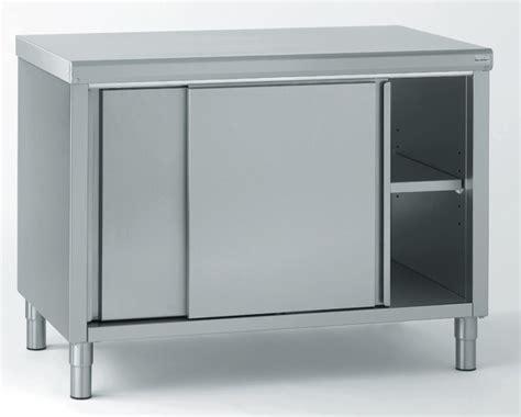 ugap mobilier bureau meuble de rangement bas inox 2 portes coulissantes