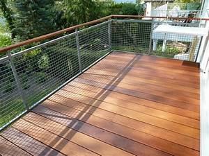 balkon mit belag aus bangkirai sinzheim bei baden baden With garten planen mit wpc belag balkon