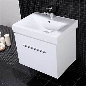 powder room vanity white gloss vanity drawer unit with With bathroom sink drawer unit