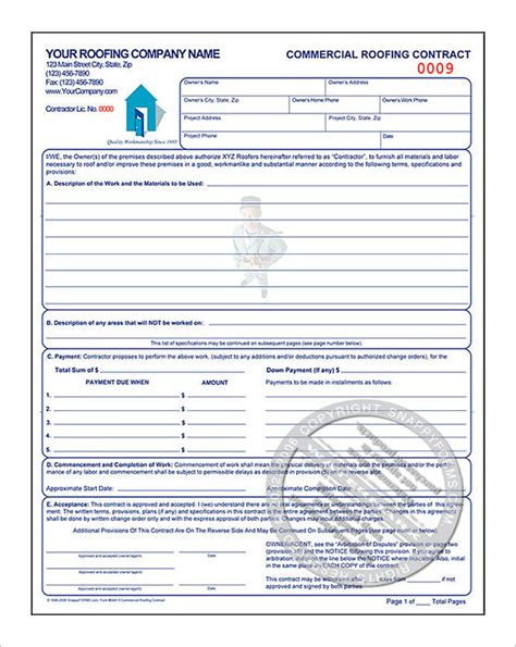 roofing contract template 11 roofing estimate templates pdf doc free premium templates