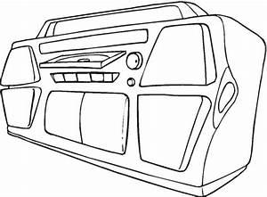 disegno di stereo da colorare disegni da colorare e With sound equipment
